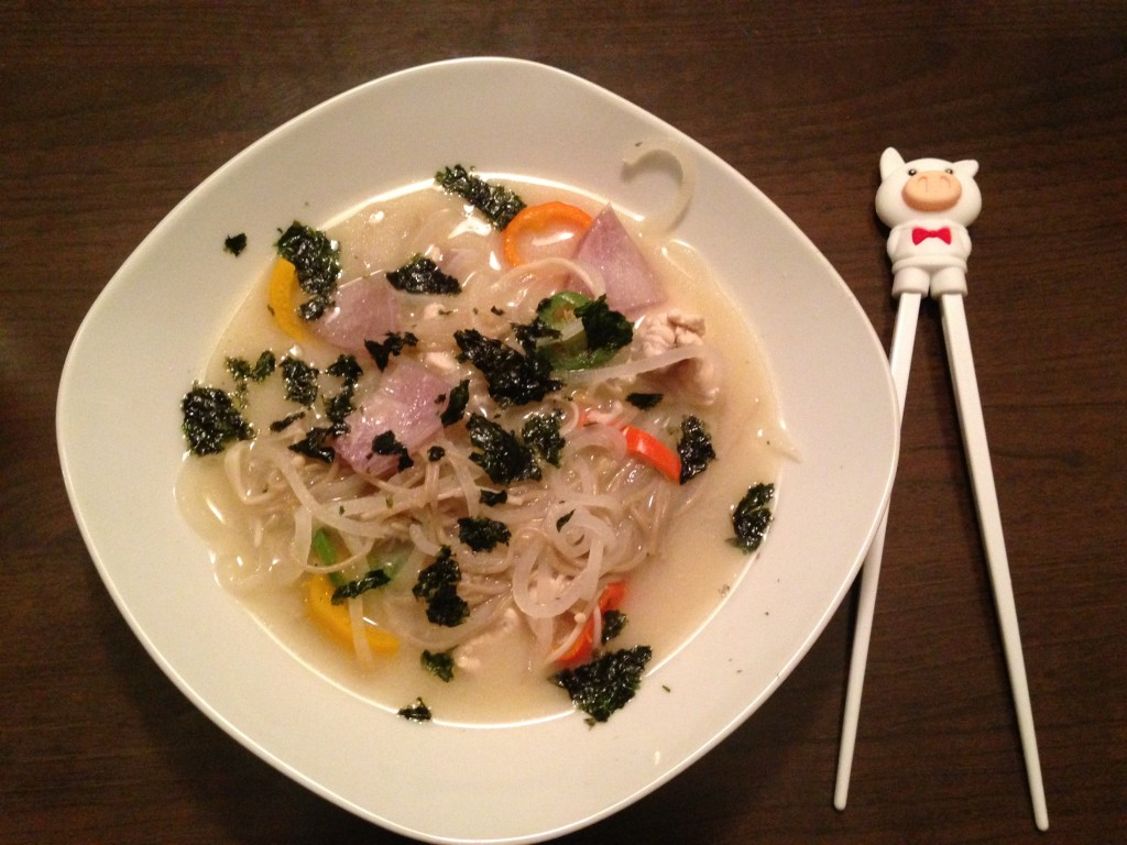 Chicken Miso With Daikon Radish Noodles