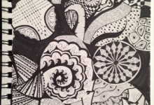Mom-inspired Zentangle
