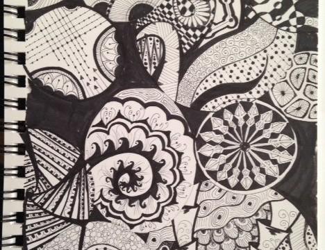 Mom-inspired Zentangle